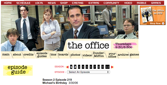 The Office Episode Guide 2006