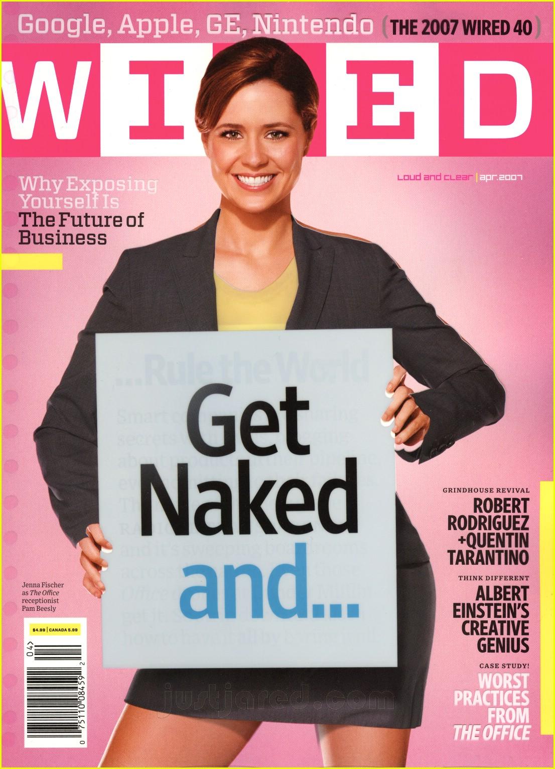 Jenna Fischer Naked Wired