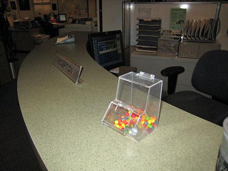 Candy Dispenser On Pam S Desk
