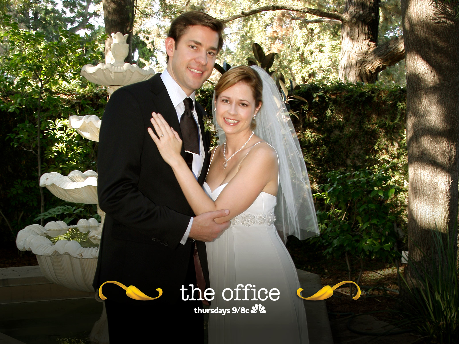 the office wedding