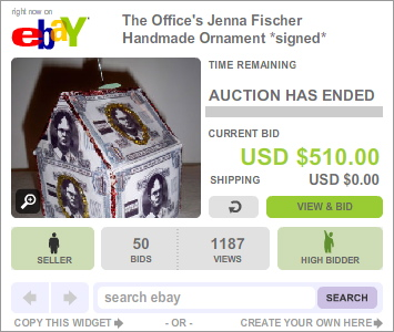 Jenna Fischer Holiday Ornament Auction