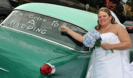 the-office-wedding-car