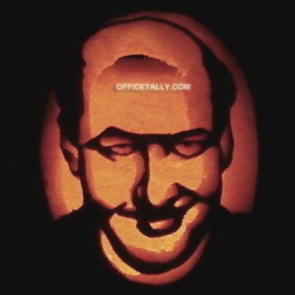 The Office Kevin Pumpkin Stencil