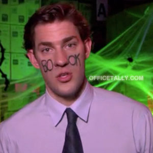 The Office Jim Halpert Halloween Costume: Bookface