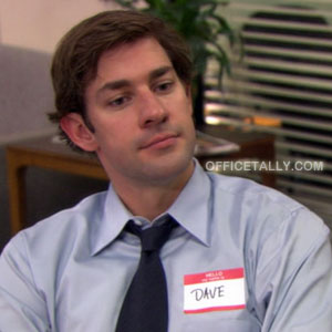 The Office Jim Halpert Halloween Costume: Dave
