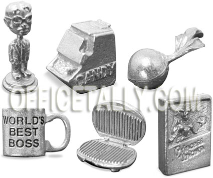 The Office Monopoly Tokens