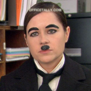 The Office Pam Halloween Costume Charlie Chaplin Hitler