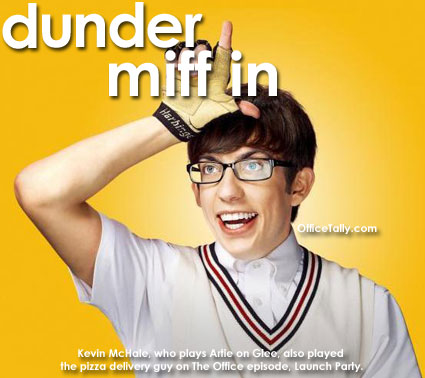 Glee Artie Kevin McHale The Office Dunder Mifflin