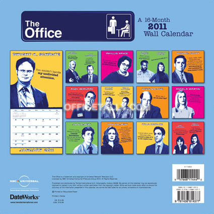 the office 2011 calendars officetally