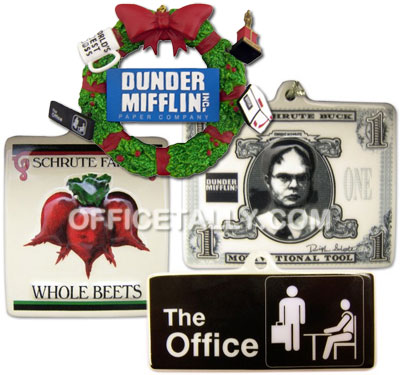 the office christmas ornaments. The Office Holiday Ornaments Christmas OfficeTally