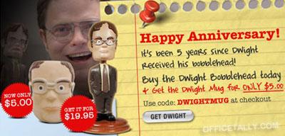 Dwight Bobblehead Anniversary