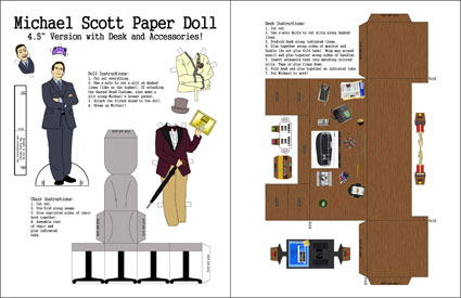 Michael Scott Paper Doll