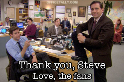Thank you Steve Carell