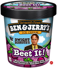 Dwight Schrute Beet It Ice Cream