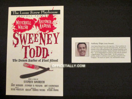 The Office: Sweeney Todd poster