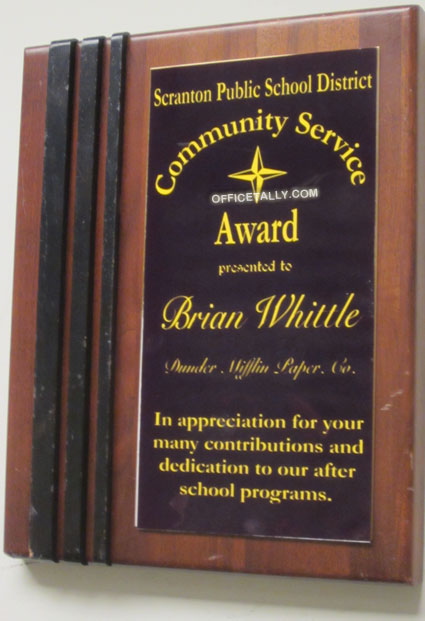 The Office set: Brian Whittle plaque