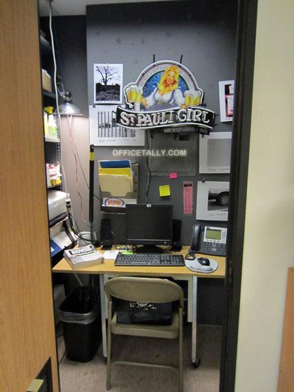 The Office set: Ryan's closet office