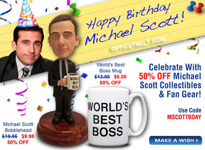 Happy Birthday, Michael Scott! (March 15)