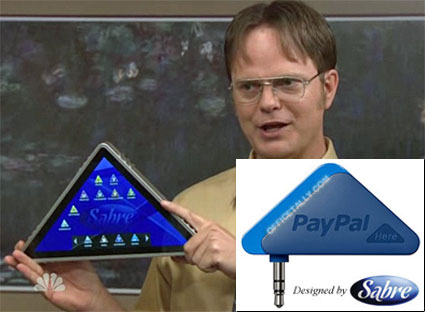 PayPal Here Sabre Pyramid The Office