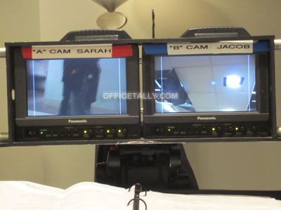 The Office camera monitors