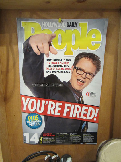 The Office magazine clipping