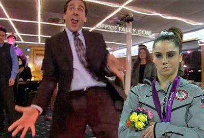 McKayla Maroney is not impressed with The Office