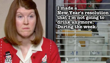 The Office: Meredith's New Year's resolution