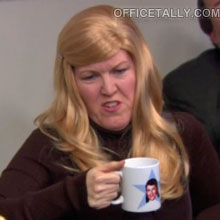 The Office: Meredith's wig in the episode, Couples Discount