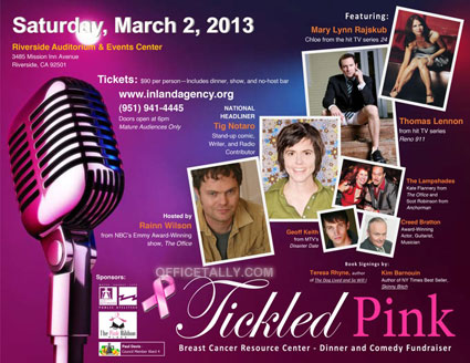 See Rainn, Kate, and Creed at 'Tickled Pink' benefit | OfficeTally