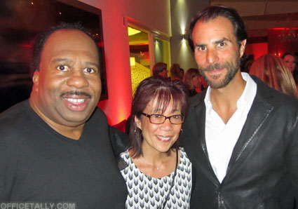 The Office Series Finale Wrap Party: Ben Silverman and Leslie David Baker