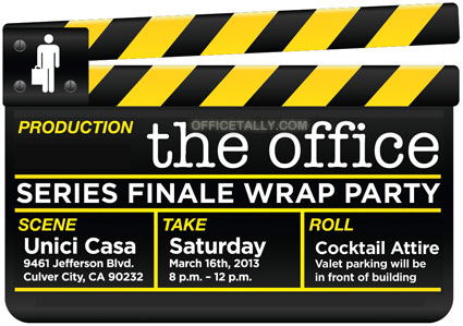 The Office Series Finale Wrap Party: Invitation