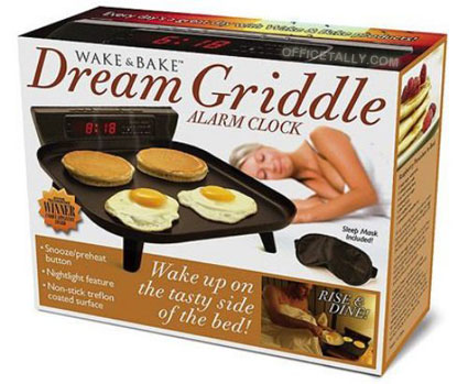 Wake & Bake Dream Griddle Alarm Clock