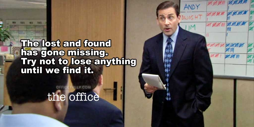 The Office Lost and Found quote