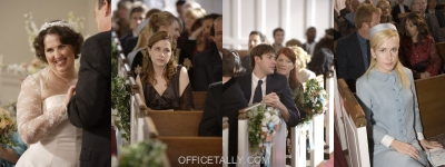 The Office Phyllis' Wedding Jenna Fischer Phyllis Smith Angela Kinsey John Krasinski