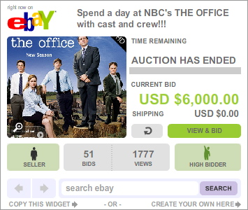 The Office set visit auction