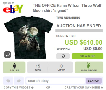 The Office Three Wolf Moon t-shirt