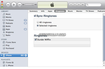 How to install an iPhone ringtone