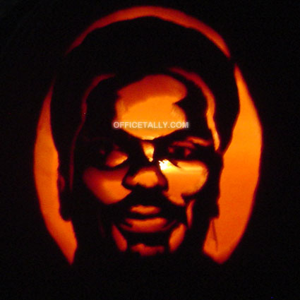 The Office Darryl Pumpkin Stencil