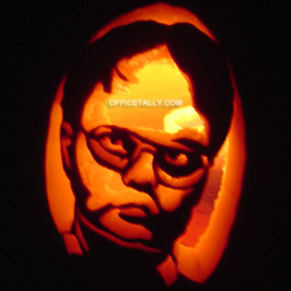 The Office Dwight Pumpkin Stencil