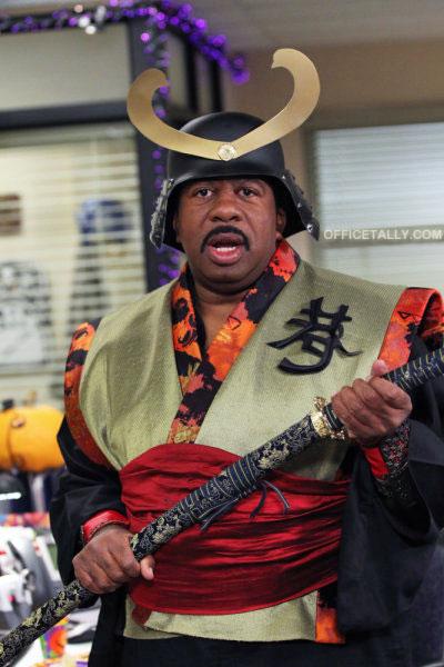 The Office Halloween: Stanley as samurai