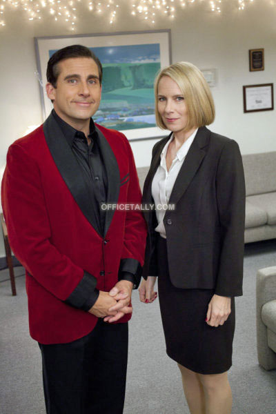 The Office Classy Christmas Michael Scott Holly Flax