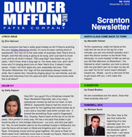 The Office Dunder Mifflin Newsletter