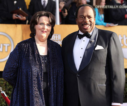 Leslie David Baker Phyllis Smith 2011 SAG Awards