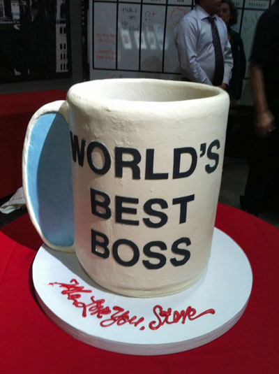 World's Best Boss cake