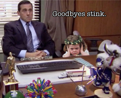 Frowning Flower Girl The Office Goodbyes Stink