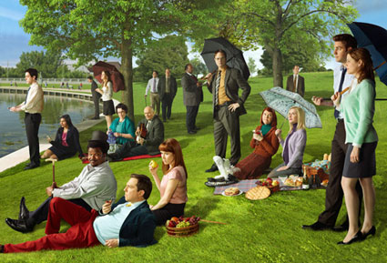 The Office a la Georges Seurat A Sunday Afternoon on the Island of La Grande Jatte
