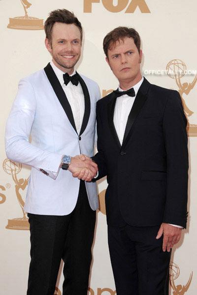 Rainn Wilson and Joel McHale at the Emmys