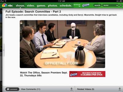 The Office iPad