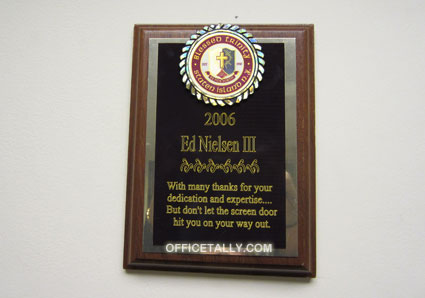The Office: Wall Plaque, Ed Nielsen