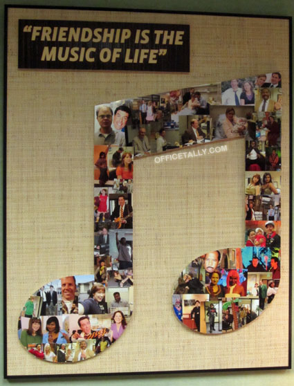 The Office: Friendship Is The Music Of Life collage